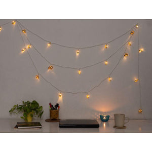 Handmade Crochet String Lights - Yellow Petals