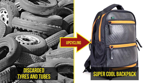 Upcycled Tyre Backpack