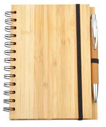 Natural Bamboo Notepad with Pen (75 pages)