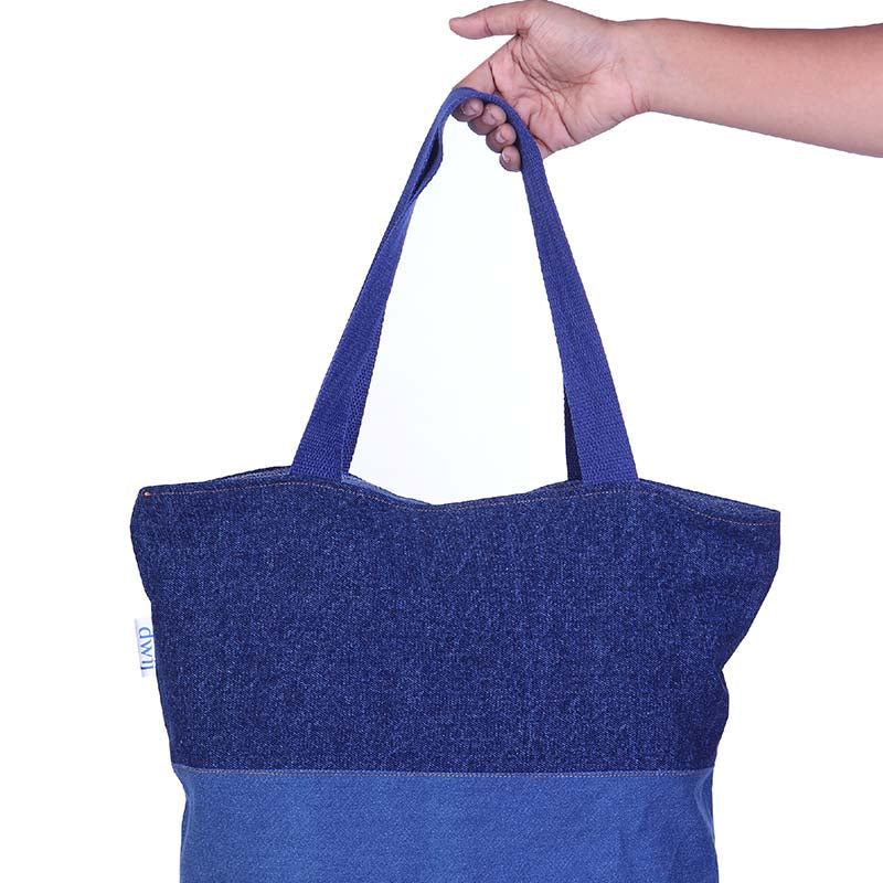 Blissful Denim Bag made with Upcycled Jeans