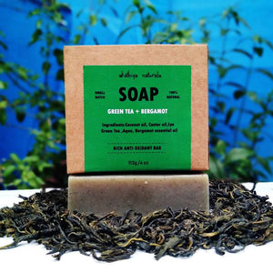 Handmade, Cold-Processed Green Tea and Bergamot Soap - Pack of 2, 113g each