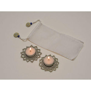 Handcrafted Metallic Tealight/ Diya Place Mat