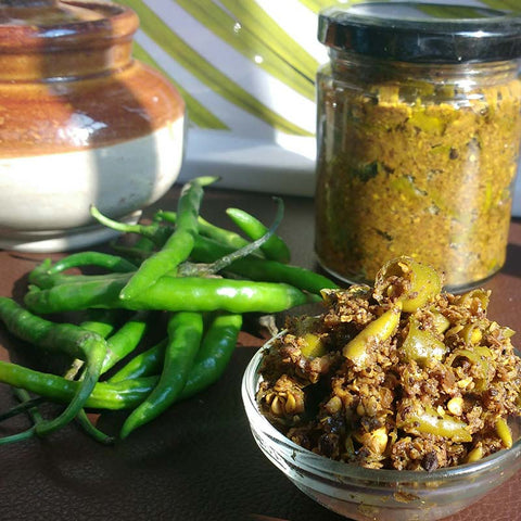 Green Chilli Pickle - 100% Natural