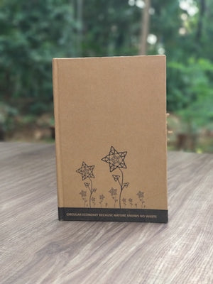 Recycled Paper Hard Bound Diary (150 pages)