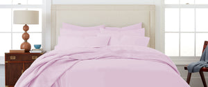 100% Organic Cotton Queen-Sized Bedsheet Set (Lavender) with 2 Pillow Covers by Amouve