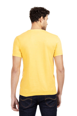 100% Organic Cotton Round Neck T-shirt (Ludic Yellow)