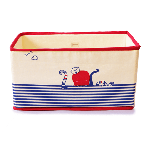 Foldable and Stackable Canvas Toy Storage Bin (Octopus Pod)