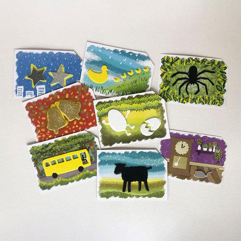 Children's Nursery Rhymes - Tactile Multi-Sensory Cards for Children With Learning Disabilities and/ or Vision Impairment (Deck of 8 Cards)