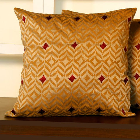 Earthen Cushion Cover - 6 created by traditional artisan communities