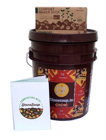 Te' Stackable Aerobic Home Composting Kit with 2 compost maker bricks