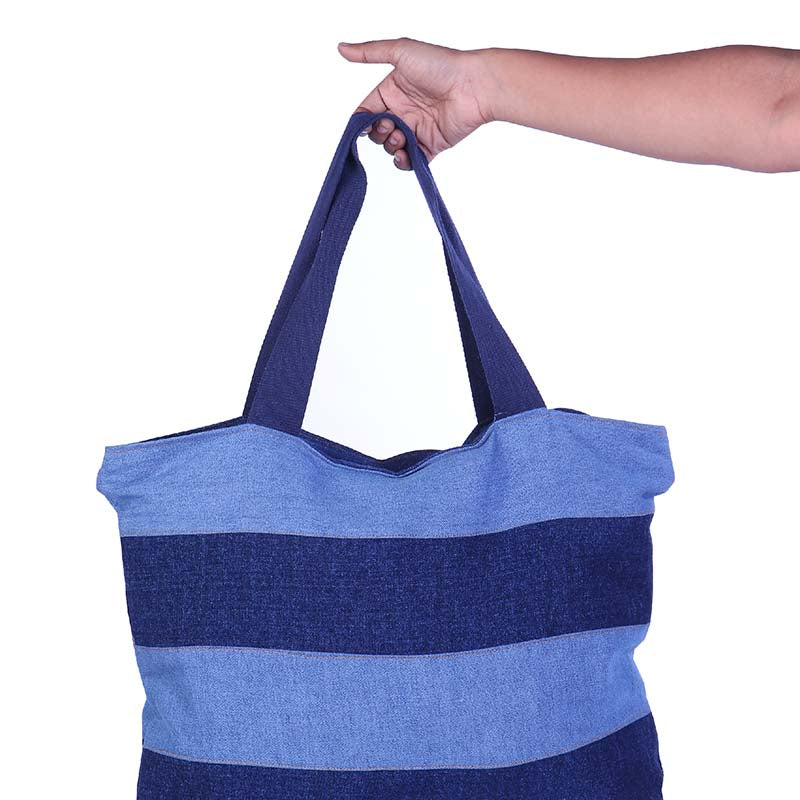 Upbeat Denim Bag made with Upcycled Jeans