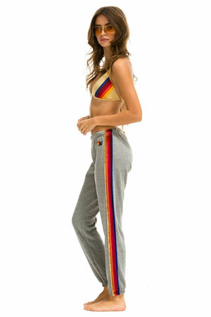 Load image into Gallery viewer, Classic Sweatpant w/Velvet Stripes - WEST2WESTPORT.com