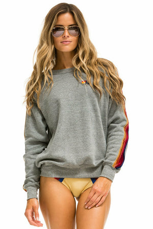 Classic Sweatshirt w/Velvet Stripes - WEST2WESTPORT.com