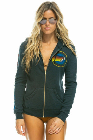 Aviator Nation Logo Zip Hoodie - WEST2WESTPORT.com