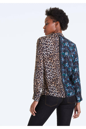 IKKS Leopard and Jungle Print Blouse - WEST2WESTPORT.com
