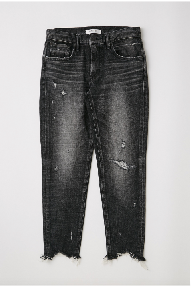 Moussy Glendele Skinny in Black at west2westport.com
