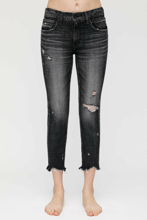 Moussy MV Glendele Skinny in Black at west2westport.com