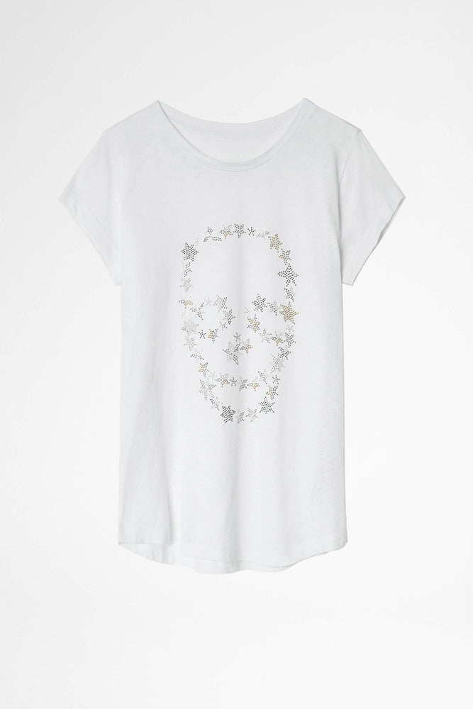 Sequins Skull T- Shirt - WEST2WESTPORT.com