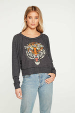 Chaser Wild at Heart Cropped  Pullover