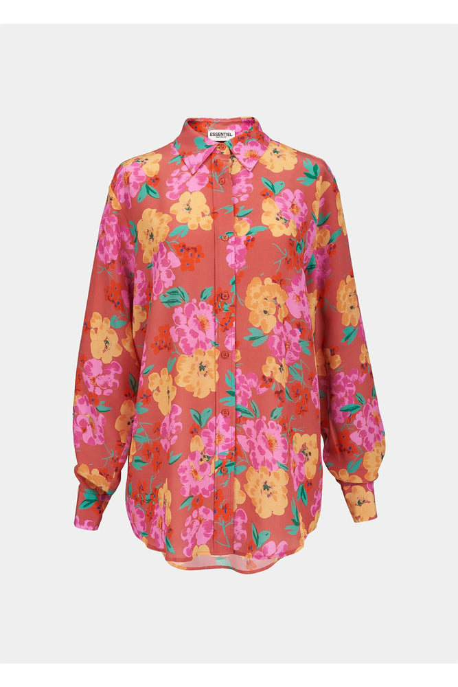 Essentiel Antwerp Coral Floral Shirt - WEST2WESTPORT.com