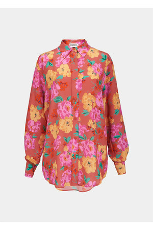 Coral Floral Shirt - WEST2WESTPORT.com