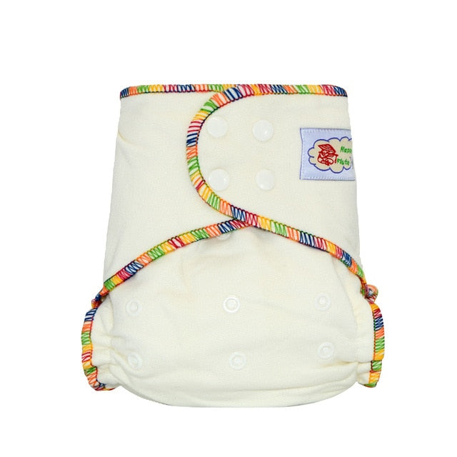HappyFlute Onesize bamboo cotton  fitted diaper