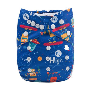Alva Baby Pocket Diaper with Microfiber Insert, One Size