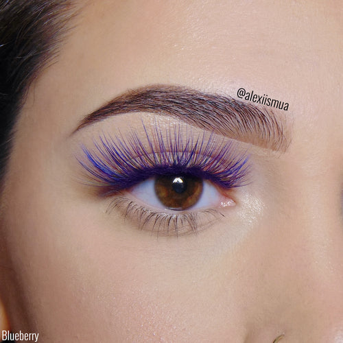 LashyBox BLUEBERRY Colorful Silk Lashes