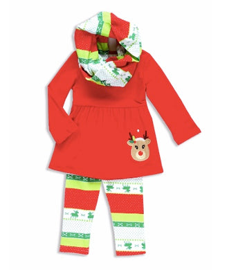 Red Reindeer 3 piece outfit