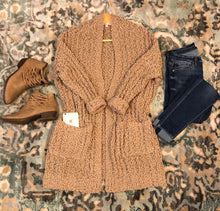 Load image into Gallery viewer, Ultra Cozy Popcorn Cardigan In Taupe
