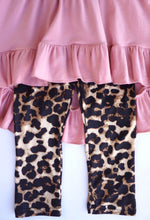 Load image into Gallery viewer, Mauve and Leopard 3 peice outfit