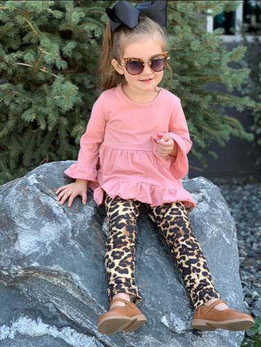 Mauve and Leopard 3 peice outfit