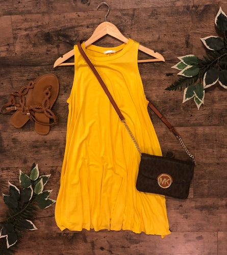Alyssa swing dress •yellow 💛