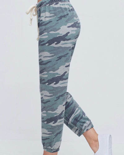 Camo Joggers In Olive