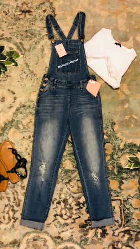Overalls With Tastefully Distressed Knee's