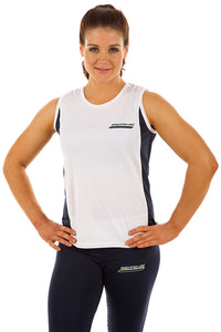PT LADIES ATHLETE SINGLET WHITE