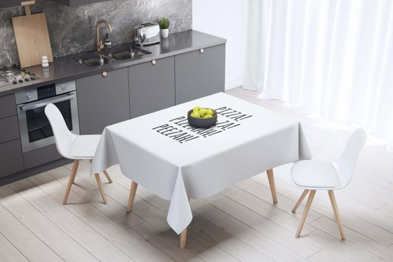 Pizza Lover Pizza Decor Table Décor Tablecloth