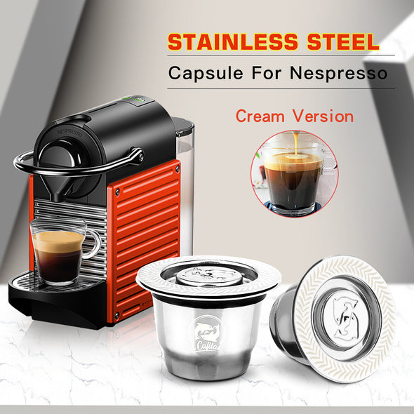 Reusable Capsules Stainless Steel Coffee Filters For Cofee Machines (Please Check Compatible Coffee Machines)