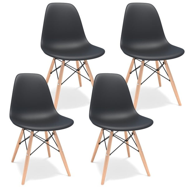 Nordic Dining Chair with Wood Legs