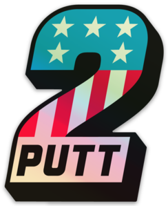 #2 Putt Holographic Sticker