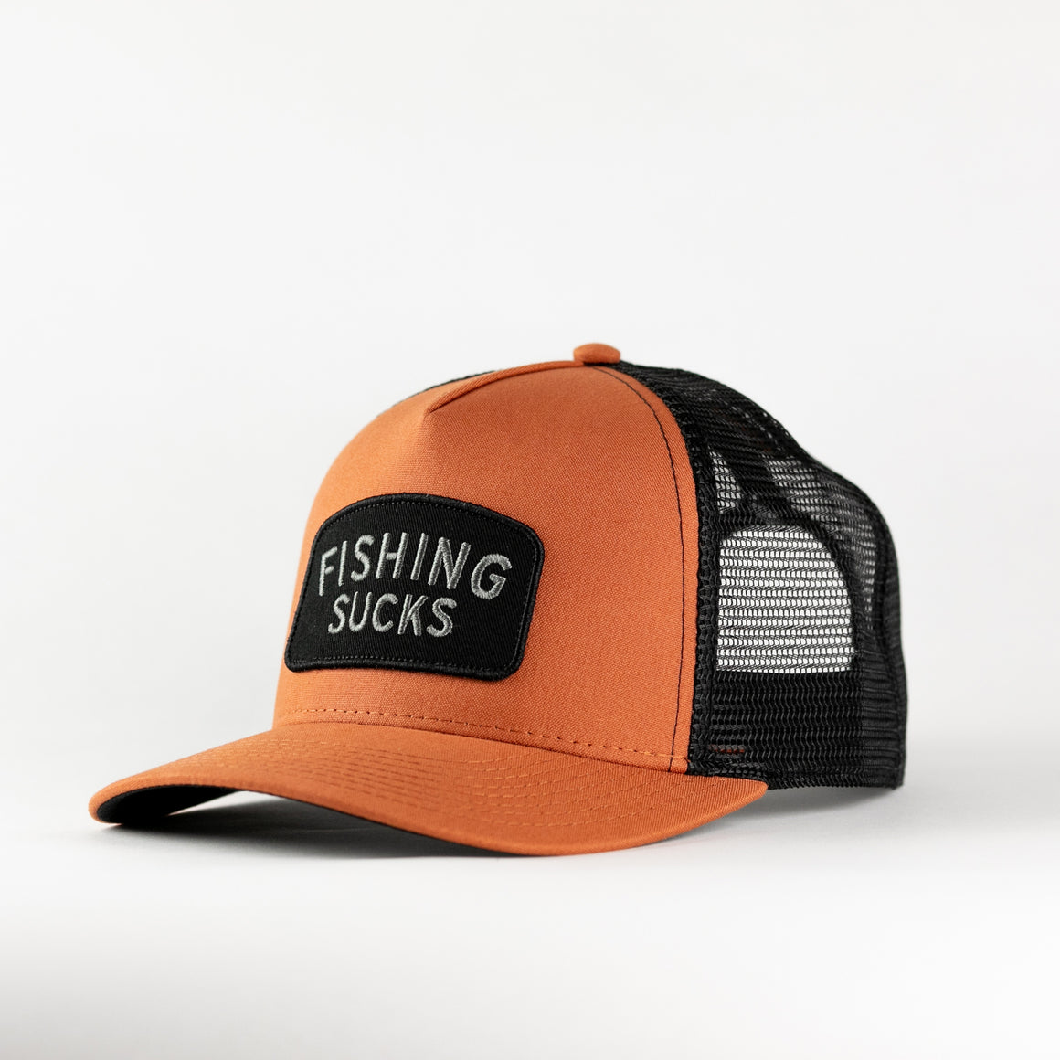 Fishing Sucks Trucker - Rust