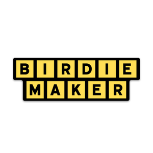 Birdie Maker Sticker