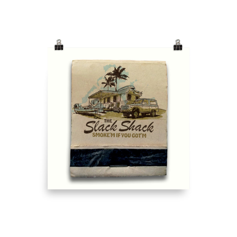 Slack Shack Matchbook Poster