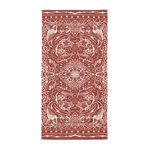 Bushwhacked Beach Towel Rust