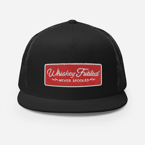 Whiskey Fueled (Red & White) Trucker Cap