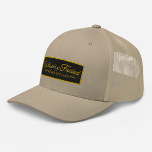 Whiskey Fueled (Black & Gold) Trucker Cap