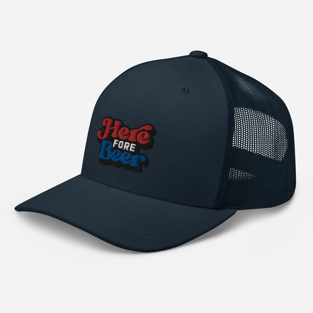 Here Fore Beer Trucker Cap