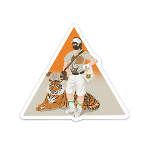 One Man Golf Pack Sticker
