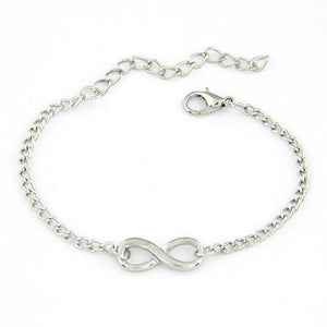 Link Chain Women Men Handmade Gift Charm 8 Shape Jewelry Infinity Bracelet Siver and Gold