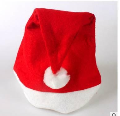 1 Pcs Christmas Party Santa Claus Nonwoven Red Hat Cap Xmas Gifts For Adult/Kids